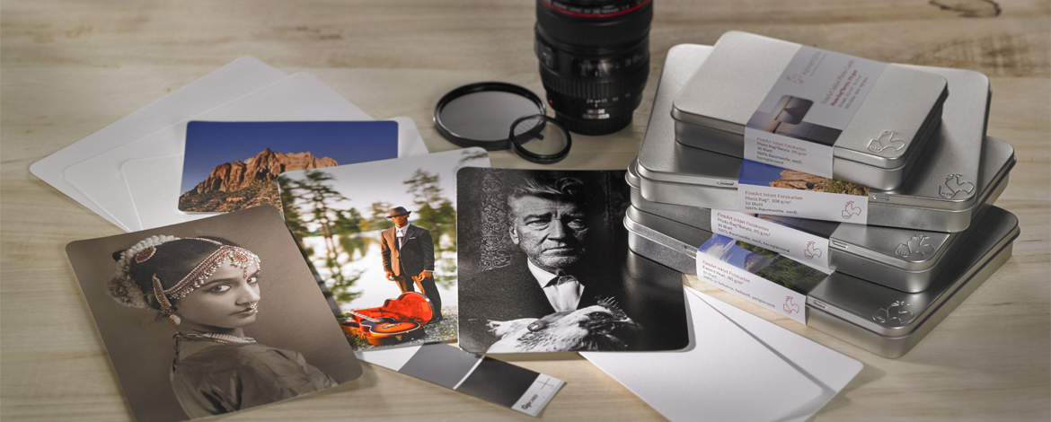 Hahnemühle DFA Inkjet Photo Cards in Metall-Designbox